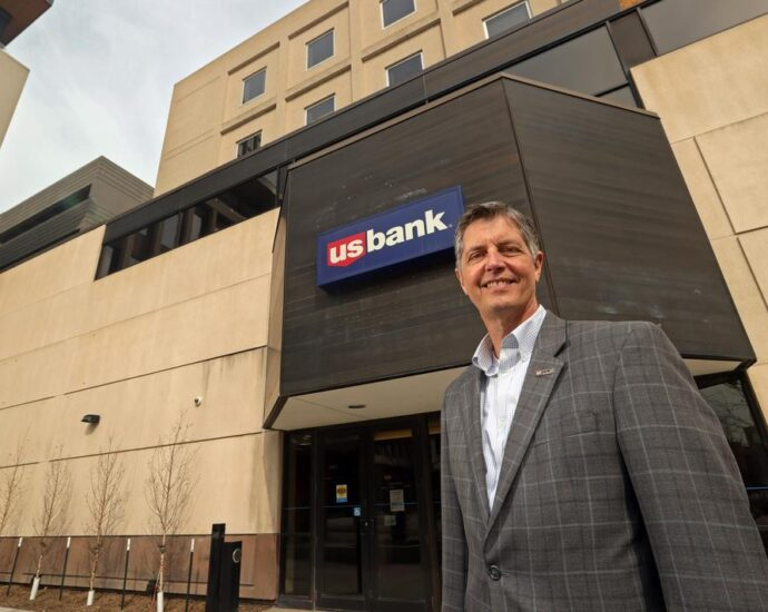 Darin Daby, pictured Friday, April 2, 2021, in downtown Fargo, is the regional president for U.S. Bank in North Dakota. David Samson / The Forum