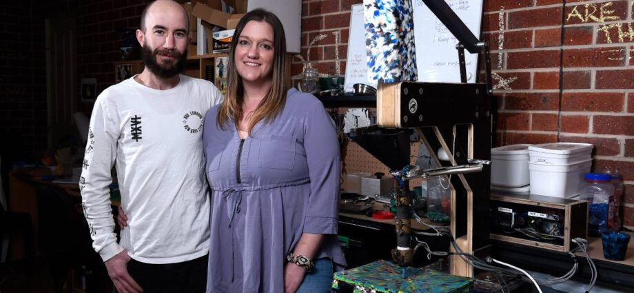 Ballarat business Zero Plastics saves plastic lids from landfill and recycles them into world-first new products | The Courier