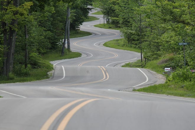 This curvy stretch of State 42 in northern Door County is part of the Door County Coastal Byway, which was named a National Scenic Byway by the Federal Highway Administration.