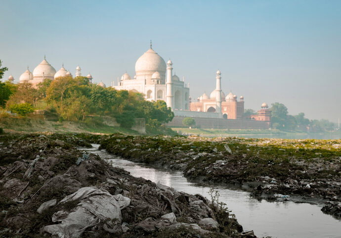 Has Taj Mahal become safe from environmental pollution?