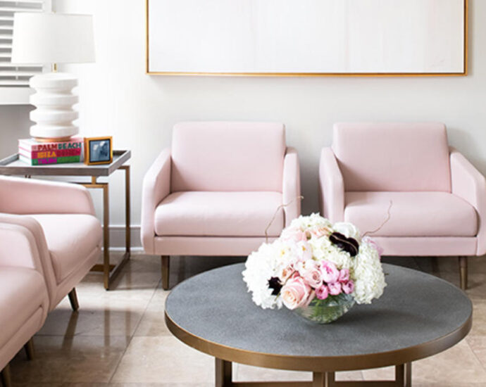 How this designer transformed a plastic surgeon's office into a dreamy oasis