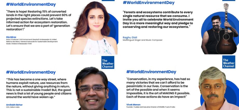 World Environment Day 2021 Round-Up: Insights, Stories and Messages from Top Environmentalists in India | The Weather Channel - Articles from The Weather Channel