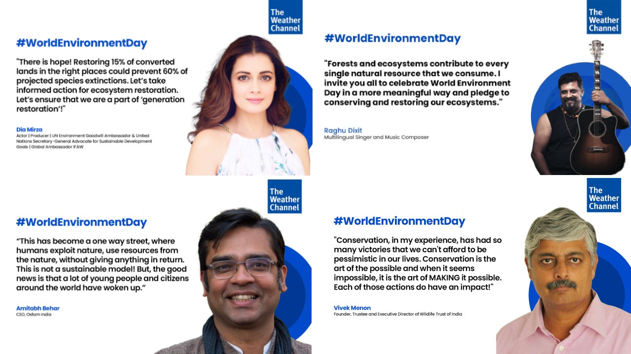World Environment Day 2021 Round-Up: Insights, Stories and Messages from Top Environmentalists in India   The Weather Channel - Articles from The Weather Channel
