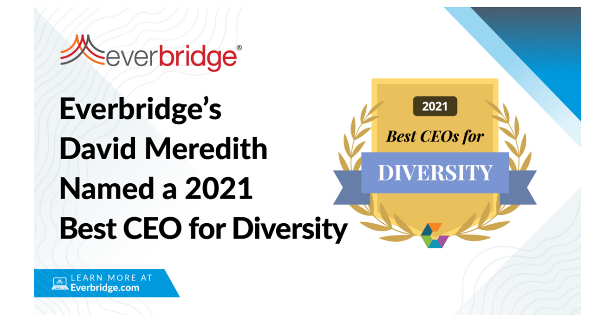"""Everbridge CEO Named a Top 50 """"Best CEO for Diversity"""" for 2021"""