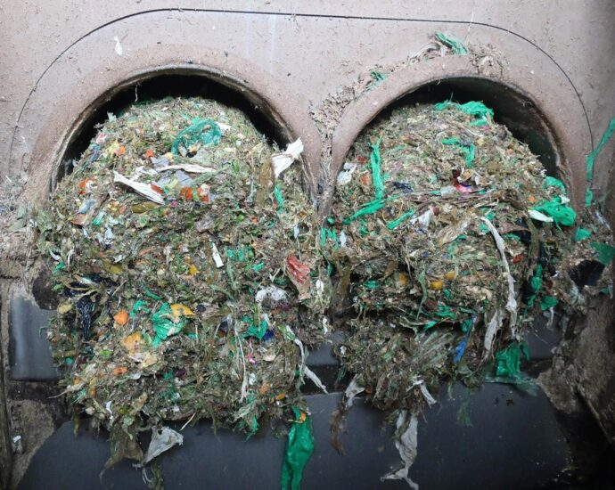 Plastic Residue Filtered Food Waste