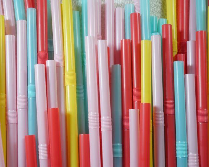 Plastic straws. Illustrative.