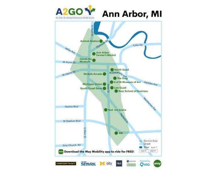 A2GO Autonomous Shuttle Service Launches In Ann Arbor On October 11