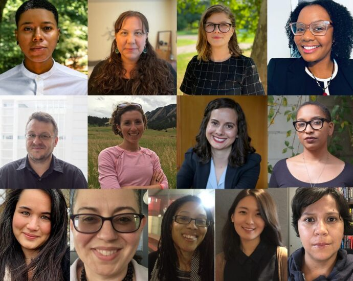 A collage with portraits of each of the new CLAS faculty hires.