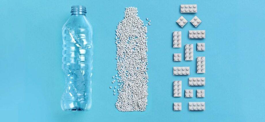Recycled PET lego bricks