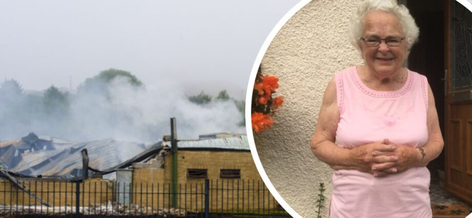 The neighbours living right next to a plastics factory that went up in smoke last week