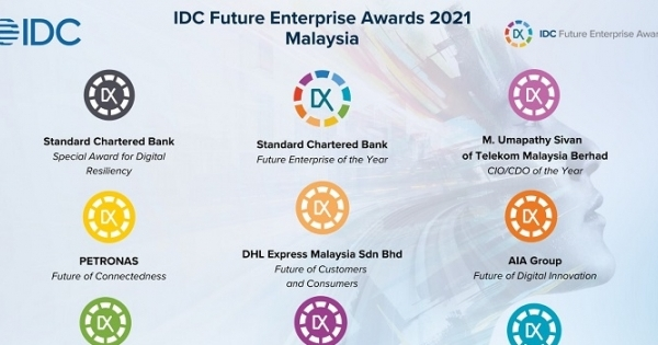 IDC: Standard Chartered is Future Enterprise of Year for Malaysia, TM's Umapathy Sivan, Named CIO of Year