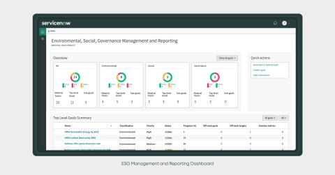 ServiceNow Introduces New Integrated ESG Solution to Help Companies Drive Greater Environmental, Social, and Business Impact